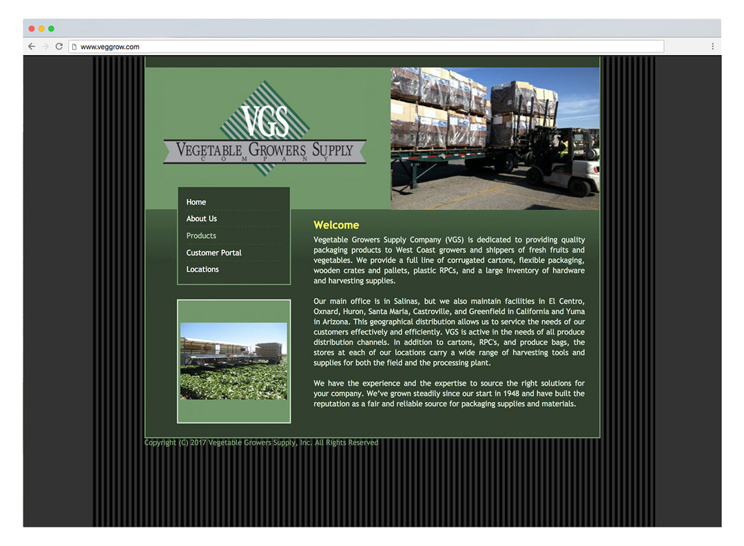 Logo and website design for Vegetable Growers Supply